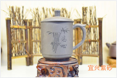 Personalized Yixing Zisha Teapot Handmade Purple Clay Tea Cup Black Color